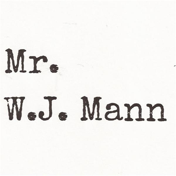 Mr WJ Mann