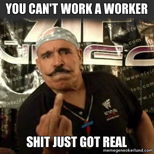 You cant work a worker